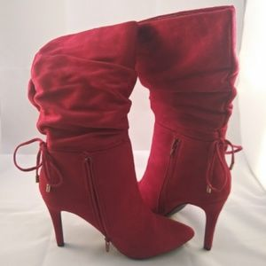 Red Suede Boots - Must have